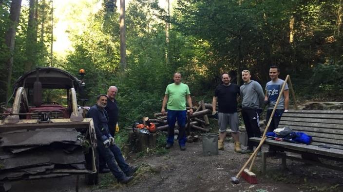 Sanierungsarbeiten am Guidobrunnen